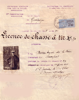 Licence de chasse Compiegne